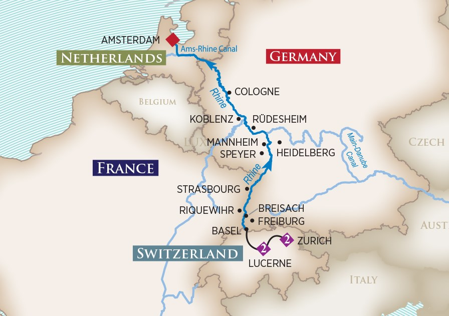 rhine river cruises map with The Enchanting Rhine River Cruises 2018 on 54042 in addition 635145 besides Bridge At Remagen Museum moreover Discovering The Rhine in addition Holland.