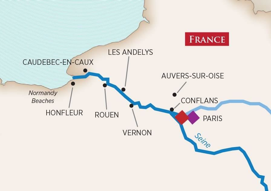 Paris  Normandy River Cruise 2017  France River cruises