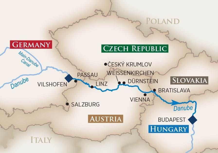 The Romantic Danube River Cruise 2017  Europe River Cruises