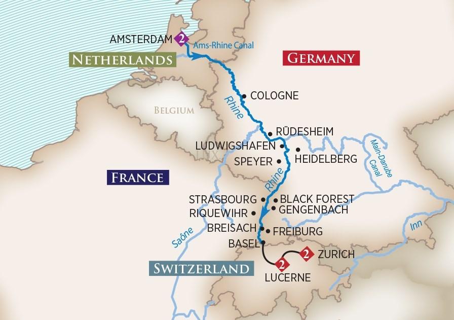 2019 Christmas Markets On The Rhine Cruise Amawaterways