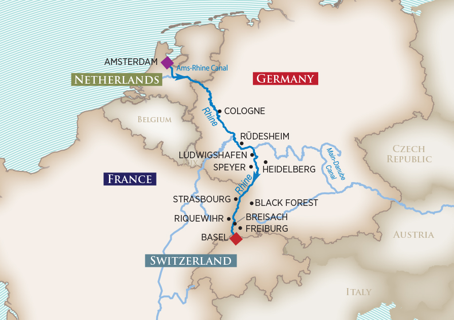 Breisach Germany Map.River Cruises Amawaterways River Cruise Line