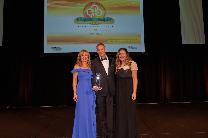From left: Kristin Karst, executive vice president and co-founder AmaWaterways; David Harris, chief executive officer Ensemble Travel Group; Elizabeth Contreras, manager, national accounts AmaWaterways